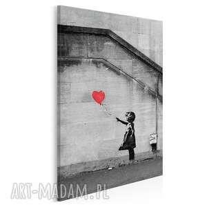 Obraz na płótnie - banksy dziewczynka w pionie 50x70 cm 20022