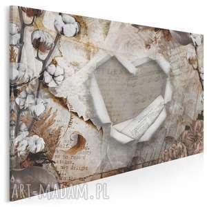 obraz na płótnie - serce retro bawełna 120x80 cm 94501, serce