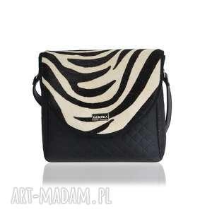 handmade torebki torebka puro classic 2509 zebra leather