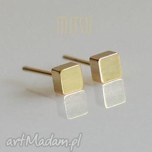 złote kostki, złote, pozłacane, kwadraty, drobne, wkrętki