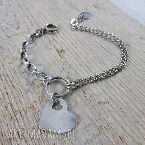 Serce z ogniwkami - bransoletka ii irart serce, srebro,