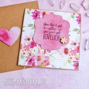 kartki urocza kartka urodzinowa handmade, urodziny, urodzinowa