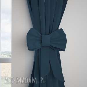 manufaktura firan zasłona tweed jodełka ocean, zasłona, zasłonka