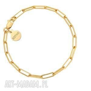 sotho złota masywna bransoletka - łańcuch, prostokąty