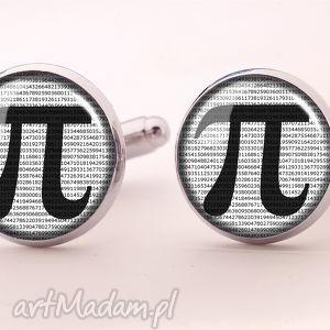 Pi - Spinki do mankietów, liczba, pi, matematyczne, spinki, mężczyzny