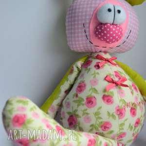 anolina miś franek dla dziewczynki szyta przytulanka z - personalizowany