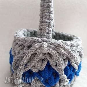 ręcznie robione pomysł na upominki święta koszyczek z bawełnianego