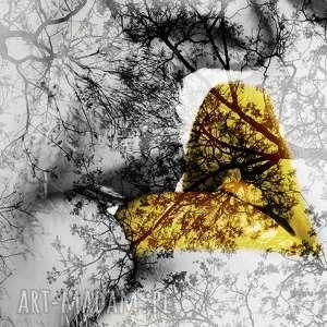 obraz xxl usta 1 żółte - 160x80cm design na płótnie pocałunek, usta