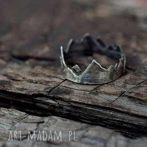 Prezent Korona Ziemi, pierścionek, srebro, szczyty, prezent, miłośnik-gór,