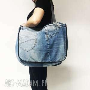majunto duża torba upcykling jeans 45, jeans