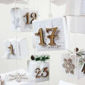 kalendarz adwentowy wiszący, ozdoba, święta, kalendarz, dzieci, zima, adwent