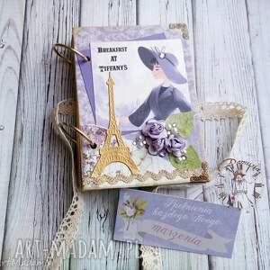 Retro notes/sekretnik dla miłośniczek niezapomnianej Audrey :), notes, retro, złoty