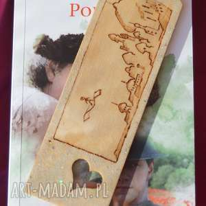 oriantalne sny - drewniana zakładka ręcznie wypalana - eleganckie
