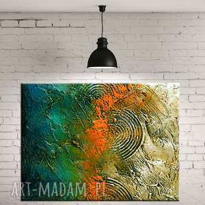 dekoracje duzy obraz do salonu jesienne tloczenie, kolory, nowoczesny