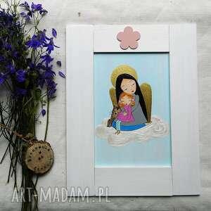Anioł stróż dla dziewczynki pokoik dziecka pracownia na deskach