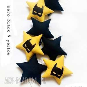 Hero - girlanda black & yellow, batman, hero, girlanda, gwiazdka, gwiazdki