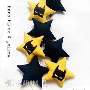 Hero - girlanda black & yellow, batman, hero, girlanda, gwiazdka, gwiazdki