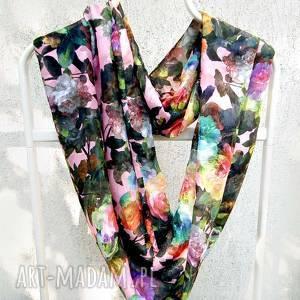 handmade święta upominki piękny szal w kwiaty na wiosnę, na święta, ekskluzywny