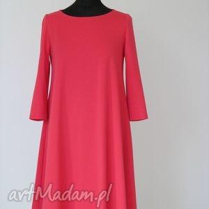 handmade sukienki 7 - sukienka malinowa
