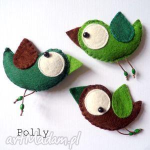 ręcznie robione broszki three little birds :)- przypinki
