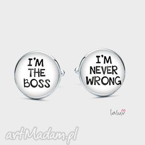 spinki do mankietów boss - szef, kierownik, ma, zawsze, racje, prezent