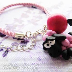 hand made bransoletki bransoletka - różowa owca