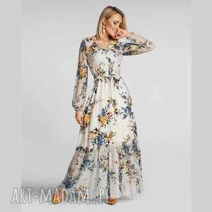 livia clue sukienka isa maxi gardenia, maxi, długa
