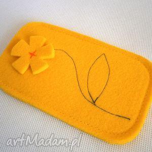 yellow yellow, filc, kwiatek etui, świąteczny prezent