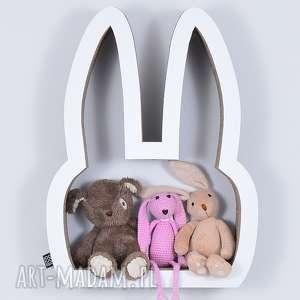 ecoono półka na książki zabawki królik biały, półka, chłopiec