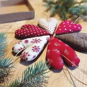zapętlona nitka zestaw bombek - świąteczne, skandynawskie