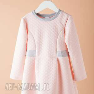 Sukienka DSU02R, pikowana, modna, wygodna, elegancka, wyjątkowa, oryginalna