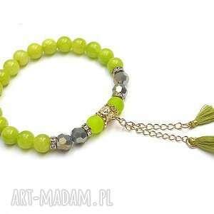 zielone jabłuszko /16 04 2020/, jadeity, boho, chwost, troki, ki ka, kamienie