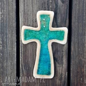 zamówienie dla pani ani, krzyż, ceramiczny, fusing, prezent, komunia