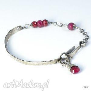 handmade bransoletka z rubinami