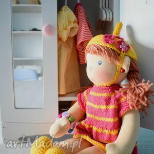 Lalka waldorfska, szmacianka - ,lalka,waldorfska,ubranka,sukienka,przytulanka,święta,