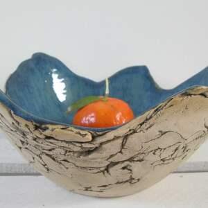 granatowa skała miska ceramiczna, dekoracyjna, miska, prezent parapetówka