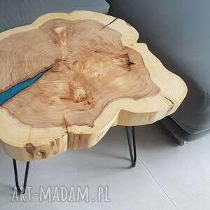 Stolik kawowy z plastra topoli stoły sciete i pociete