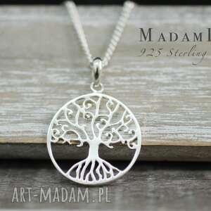 925 drzewo Życia srebrny łańcuszek - naszyjnik, biżuteria, drzewo, berlin