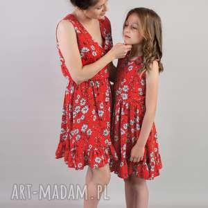 komplet sukienek selena dla mamy i córki, dlamamyicórki, sukienkanalato, wiskoza