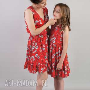 komplet sukienek selena dla mamy i córki 36 140, córki, sukienka