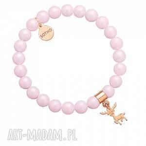 sotho jasnoróżowa bransoletka z pereł swarovski® crystal