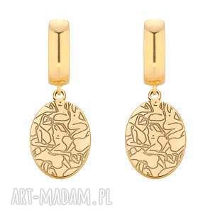 złote kolczyki art n°2, medaliony bigle