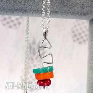 hand-made naszyjniki srebrny naszyjnik z minerałami