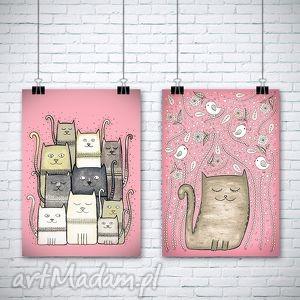 zestaw 2 prac a3 - kot, koty