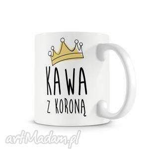 kubek - kawa z koroną, kubek, kawa, korona, prezent kubki