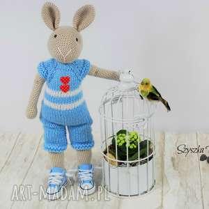maskotki króliczek nino szydełkowa przytulanka, króliczek, maskotka
