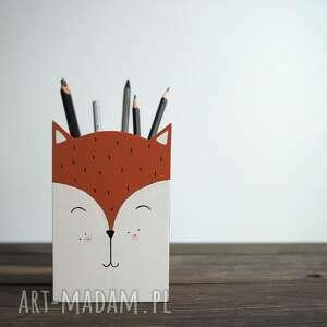 pudełka duży pojemnik na przybory - rudy lis, lisek