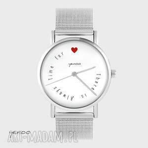Prezent Zegarek, bransoletka - There is always time for love metalowy, zegarek