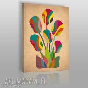 obraz na płótnie - bukiet abstrakcja 50x70 cm 06401, bukiet, kwiaty, kolory
