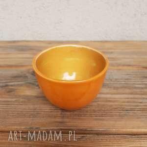 Czarka pomarańczowa 3, czarka, kubek, miseczka, glina, rękodzieło, ceramika